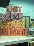 Joy Is Yours, Just Take It SIgn, Small owl