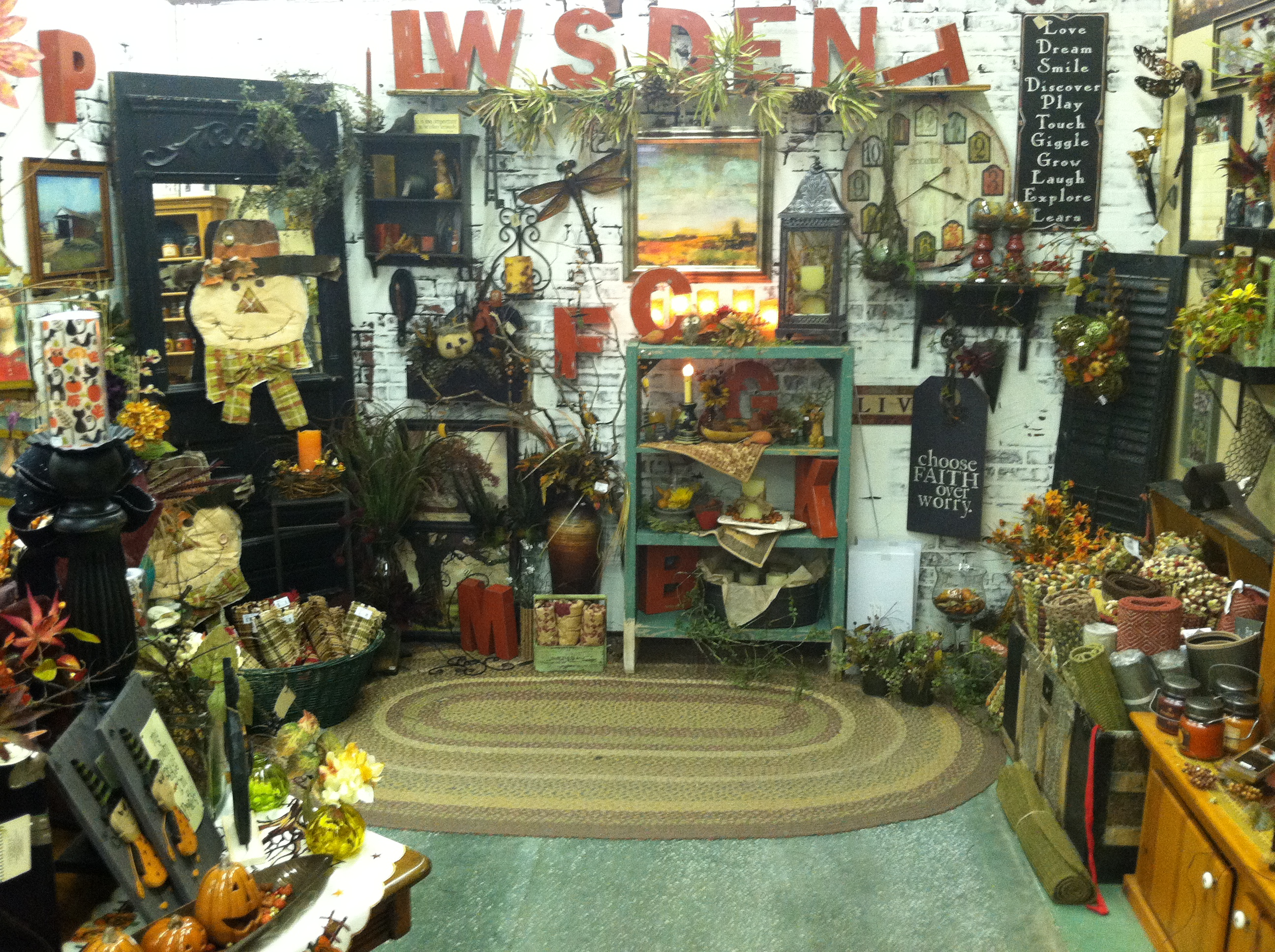 Inside Julieann's during fall
