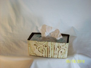 tissue box tin, bathroom decoration