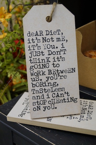 Dear Diet Sign