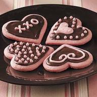 Strawberry Valentine Cookies